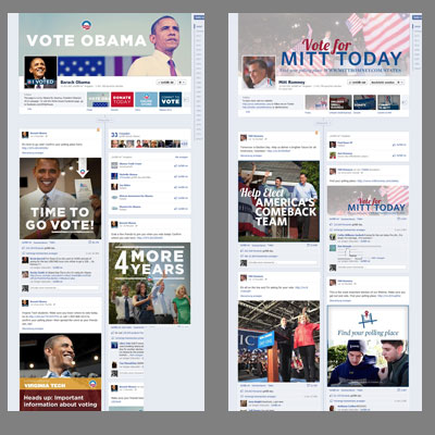 Obama vs. Romney Facebook