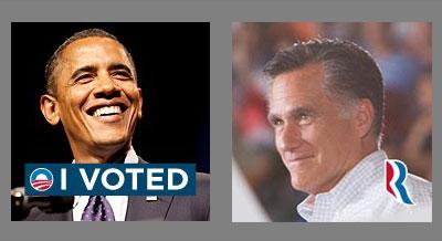 Obama vs. Romney Facebook Profilbild